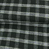 Stoffe Werning Flanell Baumwolle Karo schwarz grau