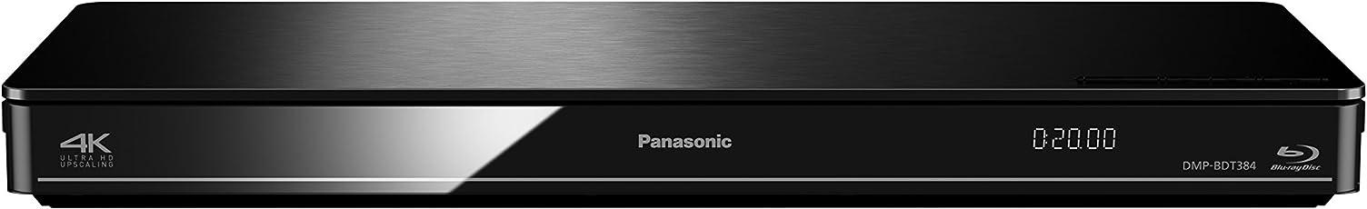 Panasonic DMP-BDT384EG 3D Blu-Ray Player (4K Upscaling, WLAN, DLNA, VoD, HDMI-Steuerung, USB, NAS) Schwarz