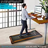 DESKFIT DFT200 Laufband für / unter Schreibtisch - fit und gesund im Büro & zu Hause. Bewegen und ergonomisches Arbeiten, keine Rückenschmerzen - mit praktischer Tablet-Halterung, Fernbedienung und App (Dunkelbraun) - 2