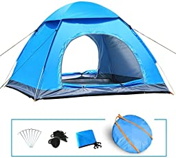 Outdoor Portable Waterproof Hiking Camping Tent Anti-UV 2 Person Ultralight Folding Tent for Four People Tent - for Camping, Outdoor, Hiking