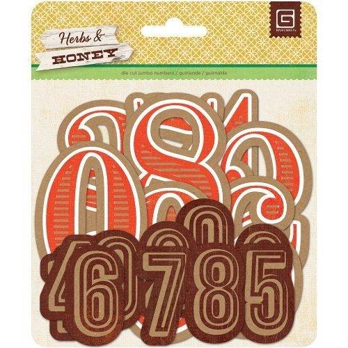 Herbs & Honey Jumbo Die-Cut Kraft Numbers- -