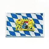 hegibaer 40 x 25 mm Bayern Flagge mit Wappen München BRD Patch Aufnäher Aufbügler 1065 A