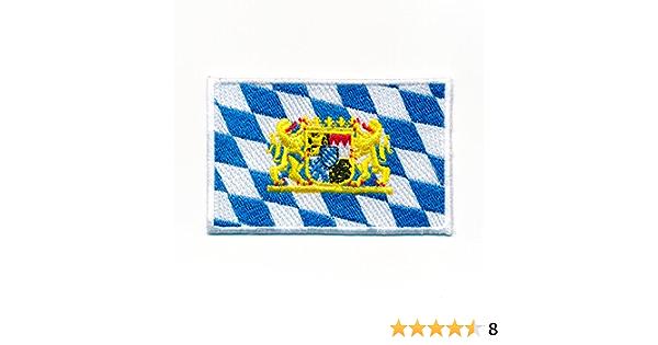 Hegibaer 40 X 25 Mm Bayern Flagge Mit Wappen München Brd Patch Aufnäher Aufbügler 1065 A Auto