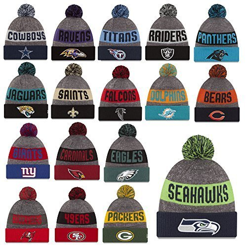 New Era Beanie Berretto Linea laterale 16/17 Seahawks Raiders Patrioti