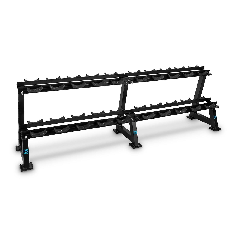 Capital Sports Deportar rack per manubri (20 supporti in plastica dura e resistente agli urtu, strut