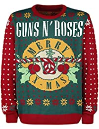Guns N' Roses Holiday Sweater 2017 Pull tricoté rouge/vert