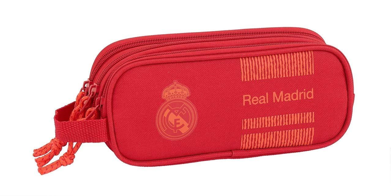 Real Madrid Manualidades/Escolares Unisex Adulto Estuche portatodo Triple Red 3′ 3 equipacion 18/19 811957-635, Multicolor, Talla única