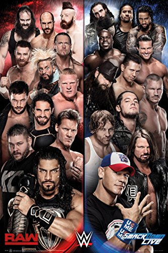 GB Eye WWE, Raw V Smackdown, Maxi Poster 61x 91,5cm, Verschiedene (Poster Wwe)