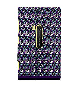 PrintDhaba Pattern D-1832 Back Case Cover for NOKIA LUMIA 920 (Multi-Coloured)