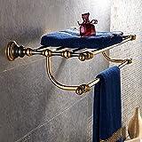Daadi Schwarz, Goldfarbene Badewanne Handtuchhalter Regal Handtuchhalter Bad Handtuch Ring, Doppelverglasung