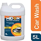 Midon Carwash Shampoo 5L, Highly Concentrate Carwash Liquid 5 Ltr, Neutral pH & Polymer based Formula
