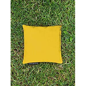 Cornhole Säckchen gelb (Granulat oder Mais), 15 x 15 cm, 400g (oder 250g) – Top Qualität made in Germany, handgemachtes…