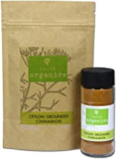 Sorich Organics Ceylon Grounded Cinnamon - Pack (200Gm) + Sprinkler (60Gm)