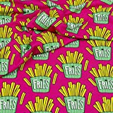 Stoff Sweat Hamburger Liebe OMG Fries pink Frittensweat