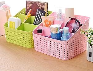 Samplus Mall Plastic Storage Basket ( Multicolour)