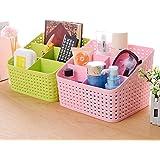 SAMPLUS MALL (LABEL) Plastic Office and Kitchen Storage Organizer - Set of 2 (Multi Color)