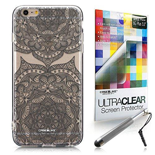 CASEiLIKE Art Mandala 2093 Housse Étui UltraSlim Bumper et Back for Apple iPhone 6 / 6S Plus (5.5 inch) +Protecteur d'écran+Stylets rétractables (couleur aléatoire) 2304