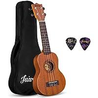 "Juarez JRZ21UK 21"" Soprano Ukulele Kit, AQUILA Strings (Strings Made in ITALY), Sapele Body, Rosewood Fingerboard, Matte…"
