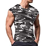 Men Athletic T Shirts Tees Short Sleeve Muscle Cut for Bodybuilding Workout Training Fitness Tops Crew Neck Cotton