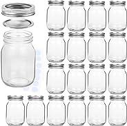 KAMOTA Mason Jars 16OZ With Regular Lids and Bands, Ideal for Jam, Honey, Wedding Favors, Shower Favors, Baby Foods, DIY Magn