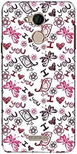 The Racoon Grip printed designer hard back mobile phone case cover for Coolpad Note 5. (White Love)