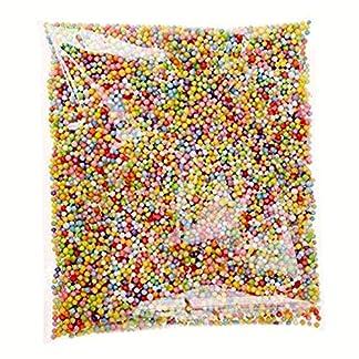 Depory – Bolas de poliestireno finas de espuma de colores para rellenar cuentas de decoración para flotador, manualidades, suministros (multicolor)