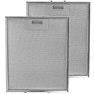 spares2go metal mesh filter for miele cooker hood kitchen extractor fan vent pack of 2 filters. Black Bedroom Furniture Sets. Home Design Ideas
