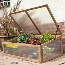 Woodside Outdoor Wooden Plant Flower Vegetable Cold Frame Growhouse