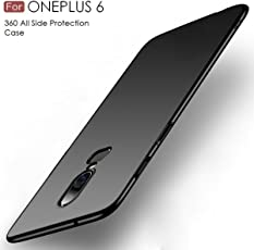 Tarkan Royal Ultra Slim Flexible Soft Back Case Cover for OnePlus 6 [Matte Black] 360 Degree Coverage