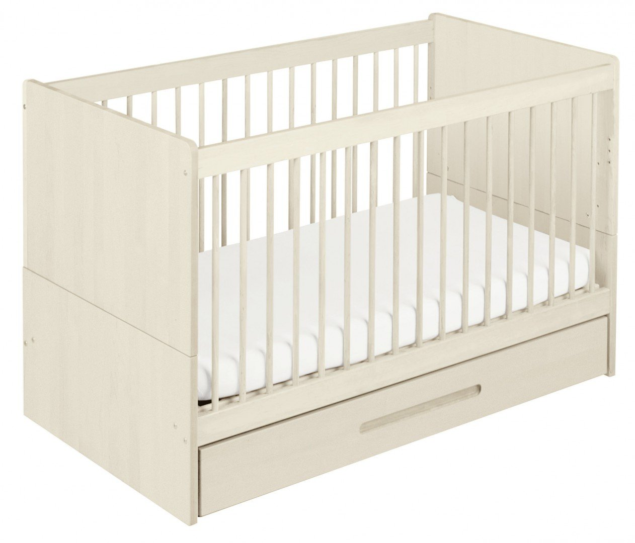 BioKinder 22600 Lina babybed cot 70x140 cm. Biological massive wood Bio-Kinder Babybed cot Lina Sustainable solid wood. Biological finish. Individually handcrafted by professional carpenters Surface W 70 cm, L 140 cm. Outward measurement L 150 cm, W 77 cm, H 90 cm. 3