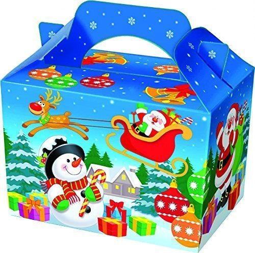 Playwrite 12 x Christmas Party Mahlzeit/Treat Boxen Originalverpackung