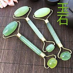 color pattern : Jade natural jade beautifying facial facial cosmetic eye massager jade rollers push face device shipping