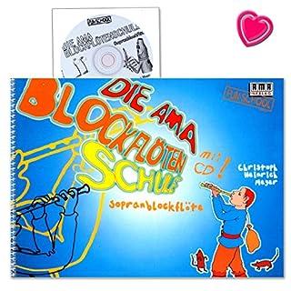 Die AMA-Blockflötenschule Sopranblockflötenschule für Kinder ab 6 Jahren - Autor: Christoph Heinrich Meyer - Notenbuch mit CD und bunter herzförmiger Notenklammer