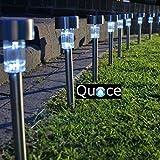 Quace Solar LED Light for Garden Rod, Set of 10