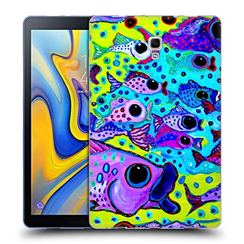 Head Case Designs Offizielle Mad Dog Art Gallery Fisch-Test Meer Soft Gel Hülle für Samsung Galaxy Tab A 10.5 (2018)