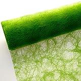Sizoflor Tischband - 25 Meter Rolle + 100 Dekodiamanten Gratis (20cm Breite, Apfelgrün)