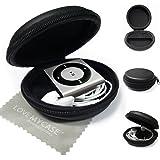 LOVE MY CASE / MP3 Player Case, Cover, Hülle - Clamshell Style mit Zip-Gehäuse für Apple iPod Shuffle 2. / 3. / 4. Generation / mit liebe meine Tasche Reinigungstuch