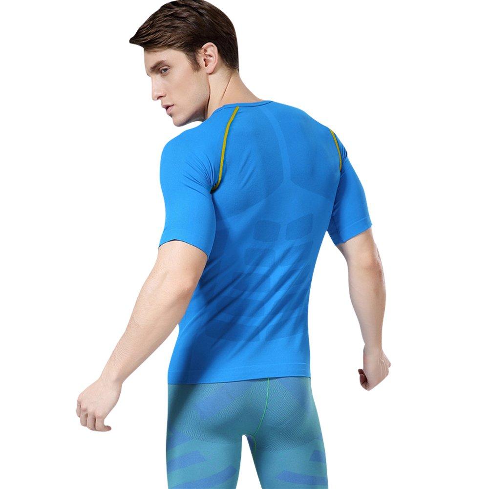 M-XL Fitsund Herren Kompressionsshirt Atmungsaktiv Fitness Shirt Schnell Trocknend Funktionsshirts Gr