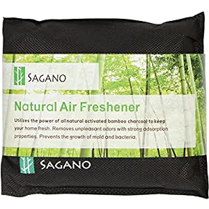 Best Activated Charcoal Odour Eliminator Bag By Sagano - 200gram Bag - Car, Closet Air Freshener and Pet Odour Remover - Powerful and Natural Activated Charcoal To Keep Your Home Fresh and Healthy