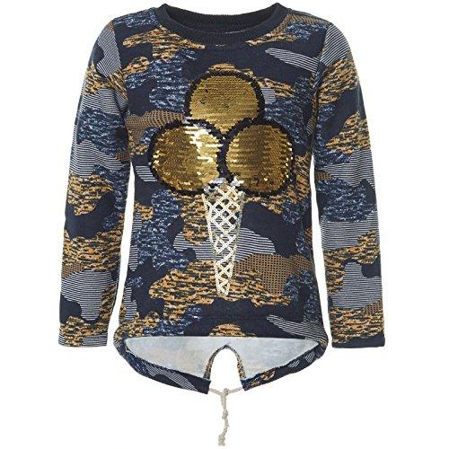 emoji sweatshirt Kinder Mädchen Pullover Pulli Wende-Pailletten Sweatshirt 21546 Navy Größe 158
