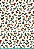 Museums and Galleries papier cadeau–Vintage Motif papillons X 4feuilles (302959-aa)