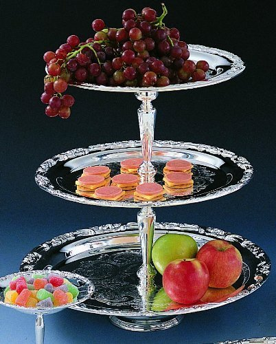 Romantica Collection Silver 3-tier Tray by Jaf Gifts (Drei Tier-tray)