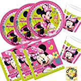 Minnie Happy Helpers Partyset 52 Teile für 16 Kinder Teller Becher Servietten