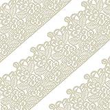 musykrafties groß vorgefertigt fertig zu verwenden Essbar Kuchen Spitze Blätter Rolle 14-inch 20 Stück Set - Elfenbein Weiß