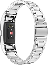 Simpeak Band for Fitbit Charge 2, Stainless Steel Band Strap for Fit bit Charge2 Smart Watch, Silver