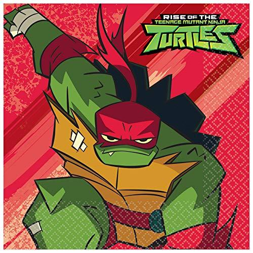 Amscan International Amscan 512209 Masken für Kinder, 16 Stück, Motiv: The Rise of Teenage Mutant Ninja Turtles