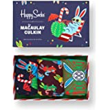 Happy Socks Calcetines Coloridos y Alegres Macaulay Culkin Holiday Gift Box 3-pack Algodón -Multicolor -41-46