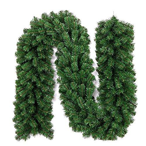 EZSTAX Ghirlanda di Natale Artificiale Pino Corona ghirlande Natale Decorazioni (Green,...