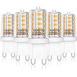 AGOTD Ampoules LED G9 4W, ampoule 2700k blanc chaud, sans scintillement, Equivalente 40W Halogène Lumière, 400 lumens, non di