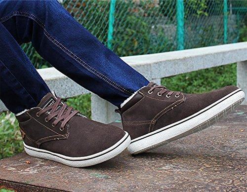 Herren Outdoor-lässige Wildleder High-Fashion-Sneaker-Bootsschuh gepolstert Brown
